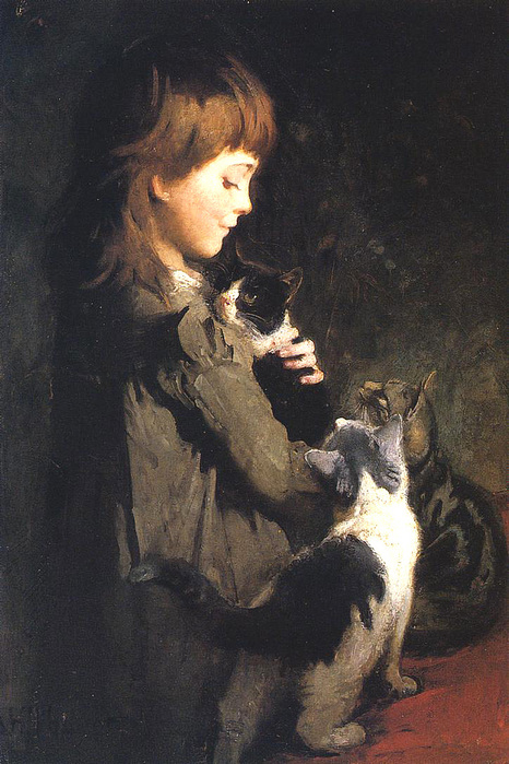 Abbott Handerson Thayer   The Favorite Kitten.jpg (466x699, 175Kb)