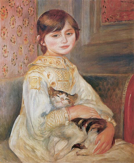 Pierre-Auguste Renoir Julie Manet With Cat 1887.jpg (463x563, 66Kb)