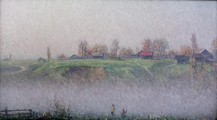 полотнов валер. Туман на реке.рыбаки.jpg (699x387, 105Kb)