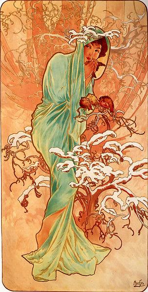 Альфонс Муха  Зима  1896.jpg (304x598, 103Kb)