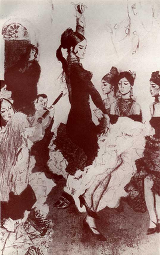 Г. Хаджаян. Фламенко в Севилье. 1969..jpg (538x858, 53Kb)