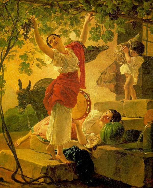 карл брюлов девушка собирающая виноград.jpg (600x738, 122Kb)