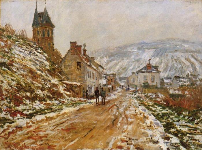 Дорога в Ветейе зимой. 1879 клод моне.jpg (700x521, 166Kb)