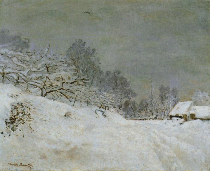 Дорога перед фермой Сен-Симон. 1867 клод моне.jpg (699x569, 164Kb)