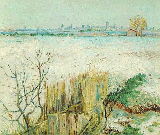 Снежный ландшафт с Арлем на заднем плане. 1888 винсент ван гог.jpg (616x519, 50Kb)