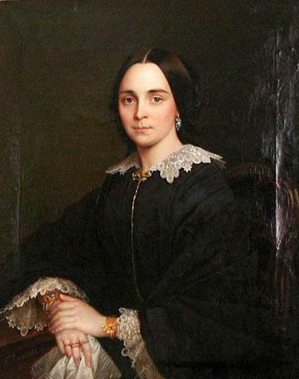 гаврила яковлев Женский портрет 1856г.jpg (434x550, 43Kb)