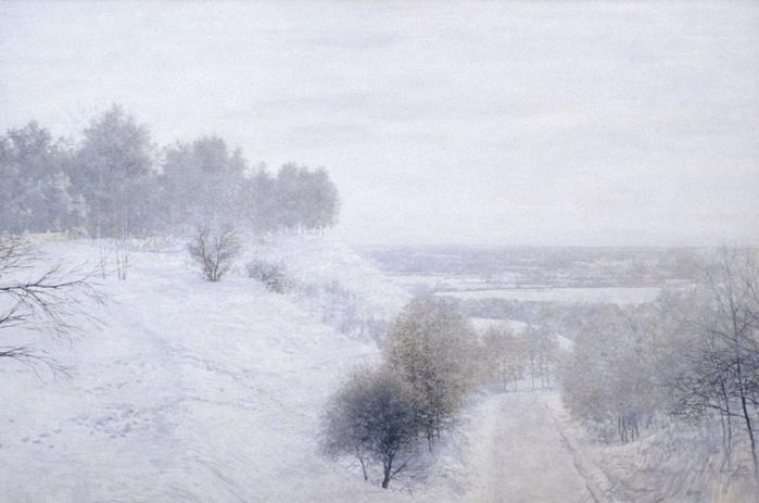 михаил изотов Зимницй вечер. artlib.jpg (699x463, 100Kb)