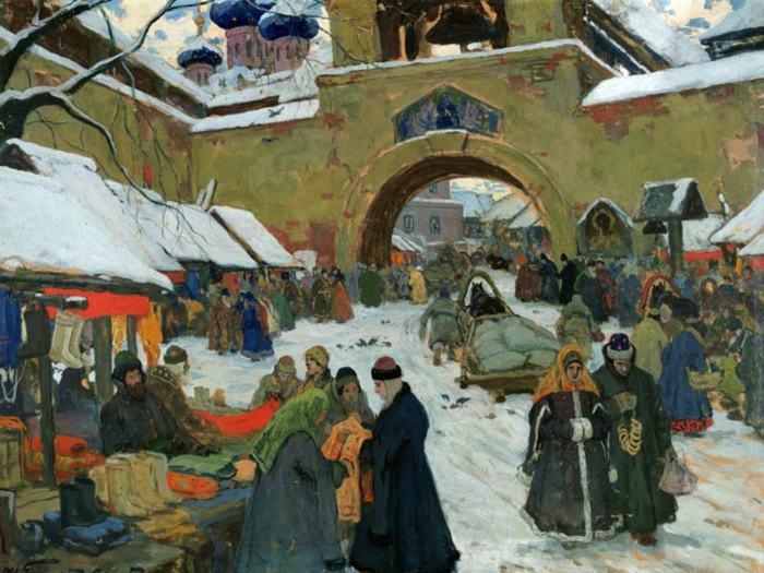 Базарный день в старом городе 1910.jpg (700x525, 71Kb)