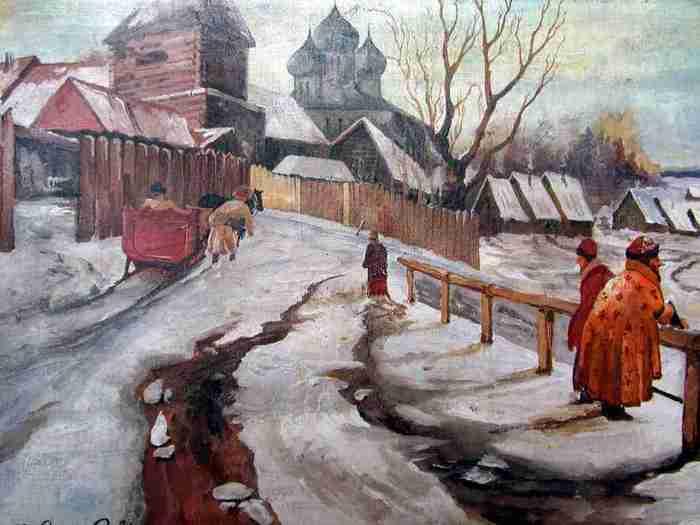 И. Горюшкин - Сорокопудов . Зима. Окраина городка.jpg (700x525, 25Kb)