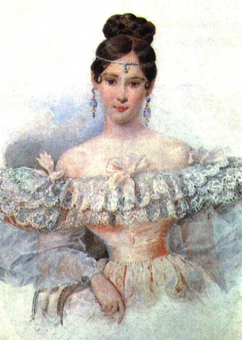 брюллов александр Портрет Н. Н. Пушкиной. Конец 1831 начало 1832.jpg (499x700, 38Kb)