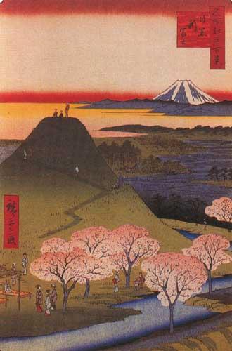 Андо Хиросигэ 1797-1858 Новая Фудзи в Мэгуро , 1857.jpg (330x500, 35Kb)
