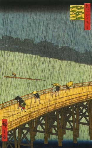 Андо Хиросигэ, Ливень над мостом Охаси и местность Атакэ, 1857.jpg (313x500, 43Kb)
