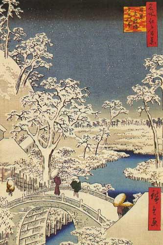 Андо Хиросигэ 1797-1858 Мост Тайкобаси и холм Юхиноока в Мэгуро 1857.jpg (333x500, 58Kb)