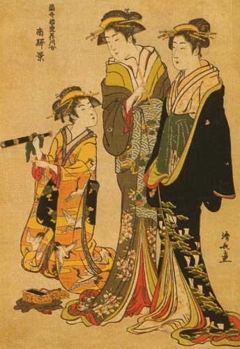 Тории Киёнага 1752-1815 В квартале Минами ,1783.jpg (344x500, 48Kb)