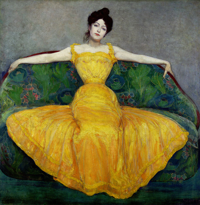 дама в желтом платье 1899 max kurzweil.jpg (684x699, 218Kb)