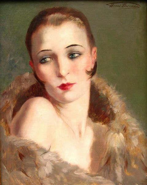 Генри Томас Прортрет женщины около 1920.jpg (479x600, 35Kb)