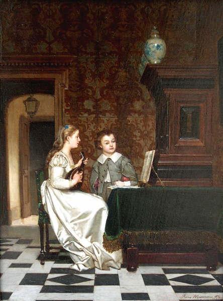 Франц Морманс «Играющий на мандолине»1874.jpg (444x600, 43Kb)