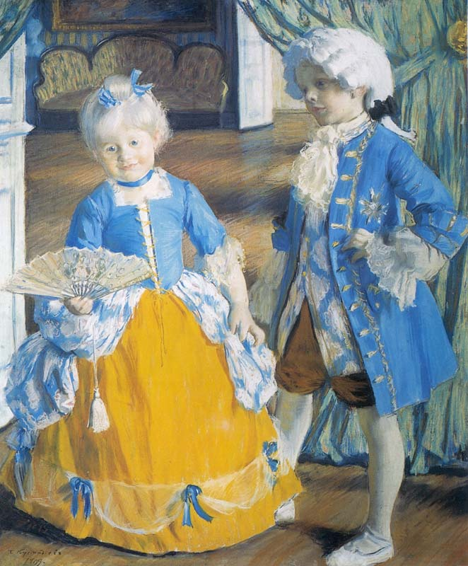 Борис Кустодиев  Дети в карнавальных костюмах 1909.jpg (662x800, 88Kb)