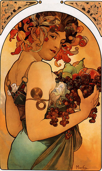 альфонс муха фрукты 1897.jpg (357x599, 106Kb)
