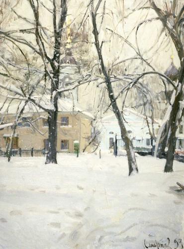 сергей смирнов Дворик в Казачьем переулке.jpg (370x500, 96Kb)