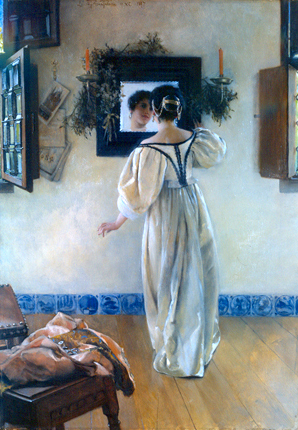 Laura  Alma-Tadema  1852-1909 A Knock at the Door, 1897.jpg (298x430, 189Kb)