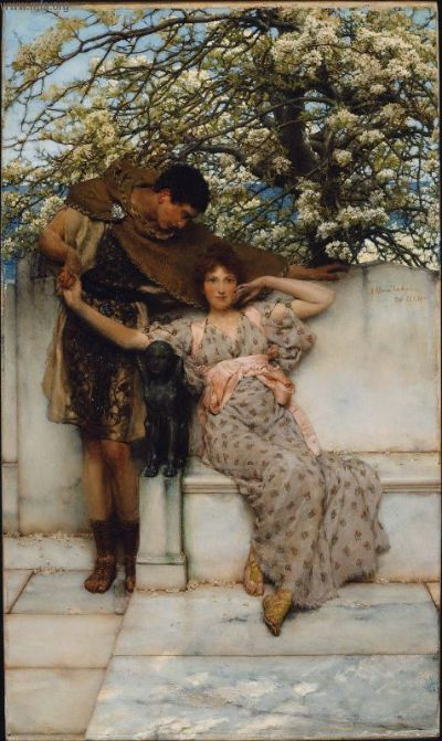 сэр лоуренс альма-тадема Promise of Spring 1890 англ..jpg (400x671, 64Kb)