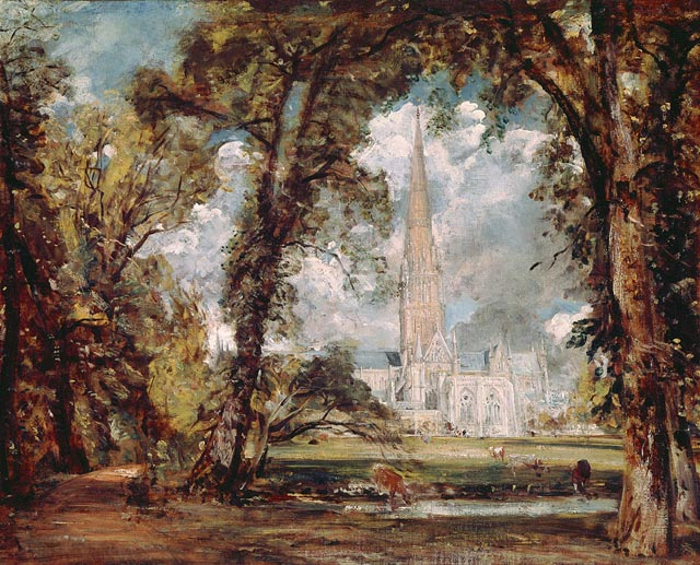 Salisbury Cathedral from the Bishop's Grounds 1820  констебль джон англ..jpg (640x517, 115Kb)