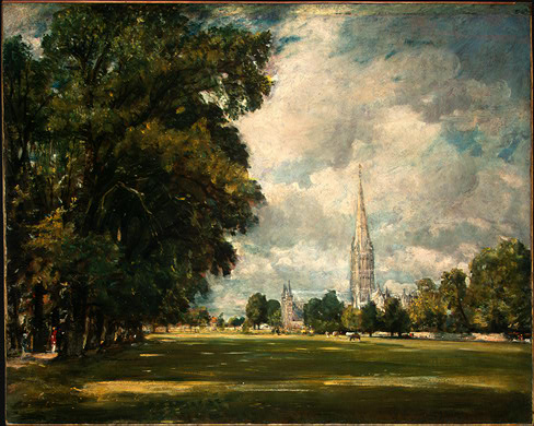 Salisbury Cathedral from Lower Marsh Close, 1820 констебль.jpg (488x390, 75Kb)