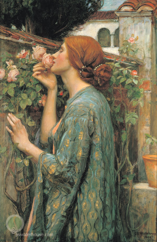 john william waterhous   1908 waterhouse_my_sweet_rose.jpg (540x834, 164Kb)