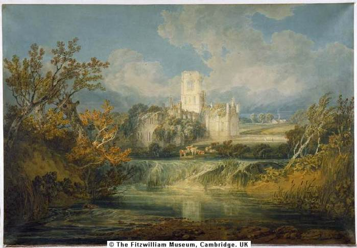 Kirkstall Abbey, Yorkshire 1797 тернер.jpg (699x486, 45Kb)