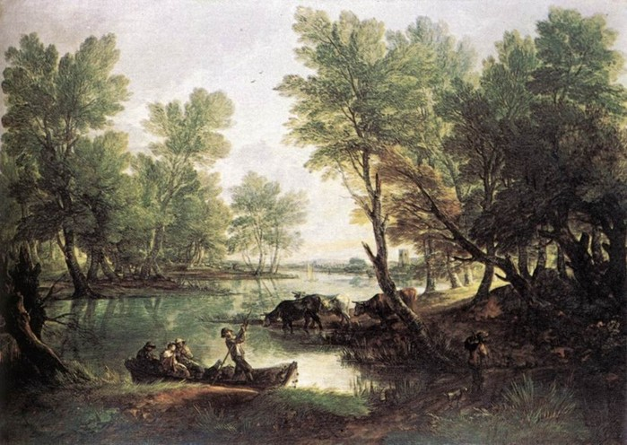томас гейнсборо речной пейзаж 1768-70.jpg (699x496, 118Kb)
