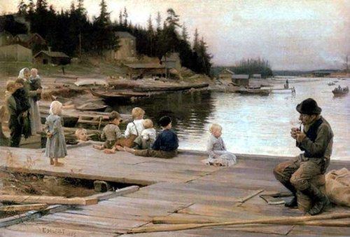 Альберт Эдельфельт Субботний вечер в Хамари 1885.jpg (500x338, 45Kb)