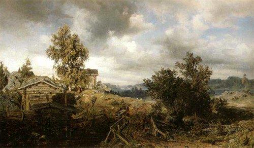 Вернэр Холмберг  Пейзаж с избушкой 1860 финл..jpg (500x292, 41Kb)