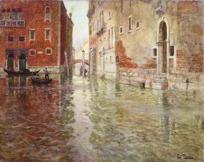 Таулов, Фриц Йохан Фредерик  Уголок Венеции начало 1890-х норв..jpg (699x555, 153Kb)