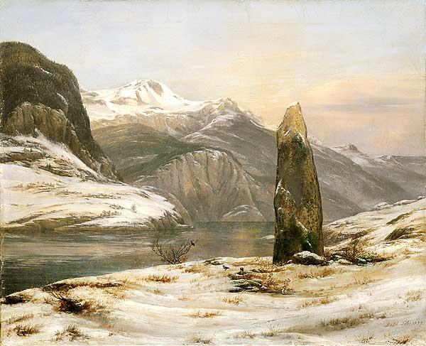Winter in Sogn Fjord 1827 Йохан Христиан Даль.jpg (600x487, 49Kb)