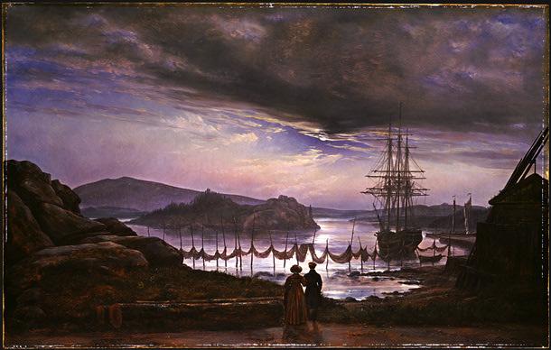 Johan Christian Dahl View from Vaekero near Christiania 1827.jpg (610x388, 85Kb)