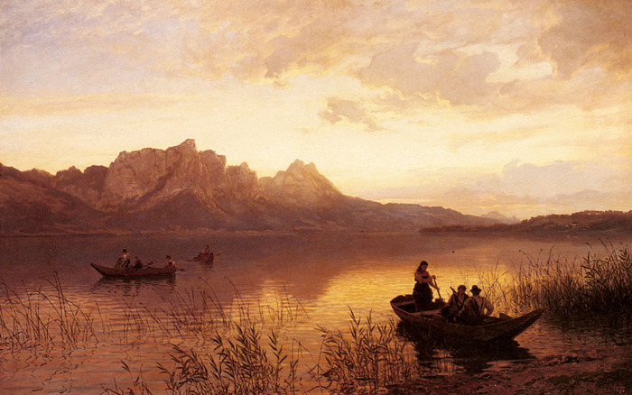 Gude_Hans Fredrik Gude 1825-1903 Drachenwand On The Mondsee.jpg (700x438, 133Kb)