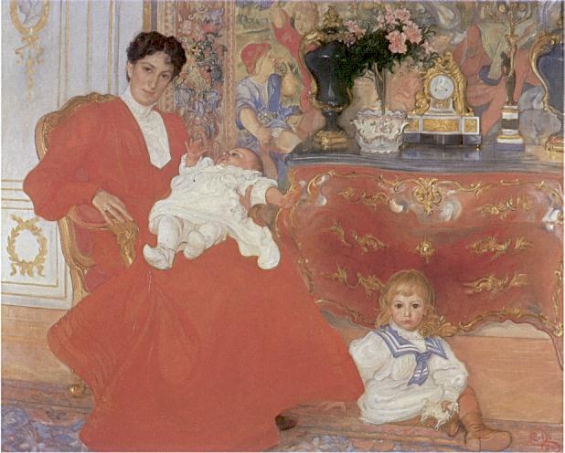 Dora Lamm med söner 1903  ларссон.jpg (618x496, 52Kb)