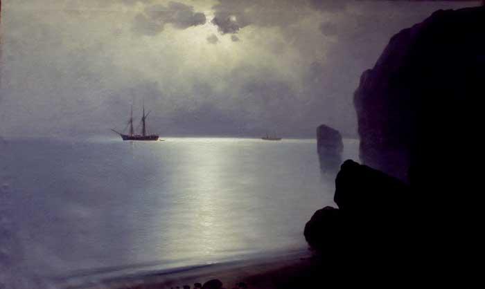 Костанди Харлампий  конец ХIХ - начало XX века парусник в море.jpg (700x418, 10Kb)