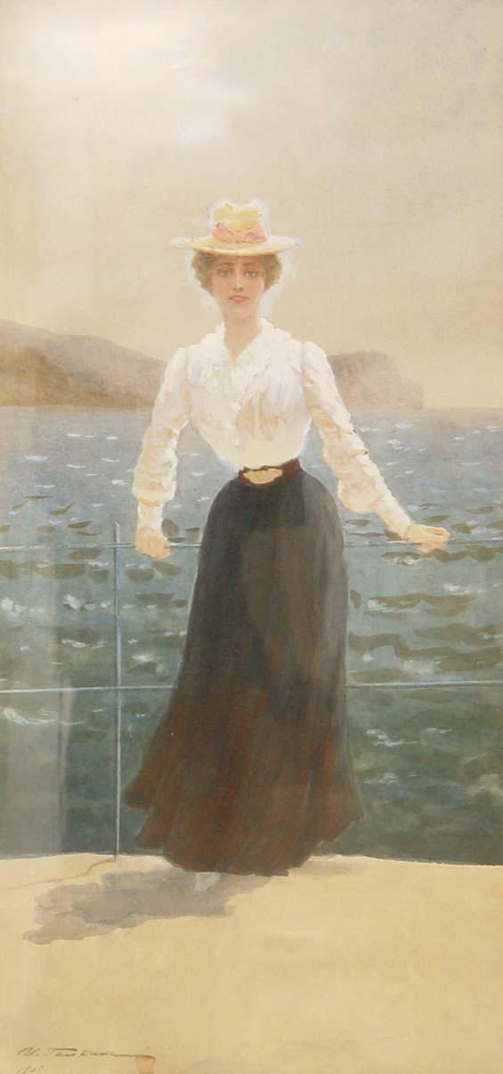 Галкин Илья Савич 1860 – 1915. Дама на палубе.jpg (565x1206, 53Kb)