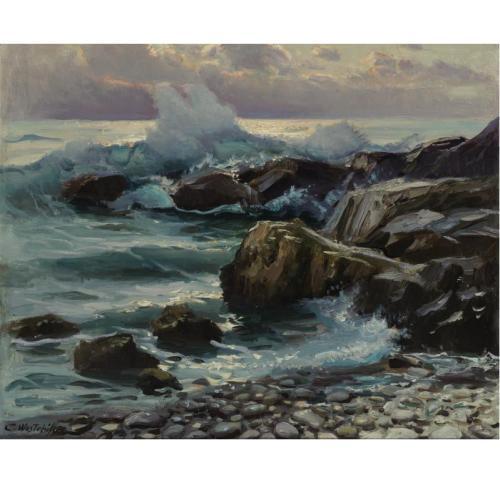 Константин Вещилов (1877-1945). Разбивающиеся о берег волны..jpg (500x500, 33Kb)