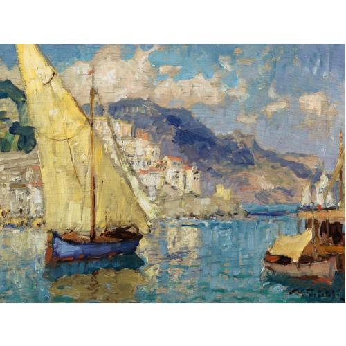 К.И.Горбатов (1876-1945) Корабли в Амальфи..jpg (500x500, 39Kb)