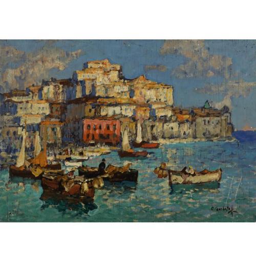 Константин Иванович Горбатов (1876-1945). Порт в Неаполе.jpg (500x500, 38Kb)
