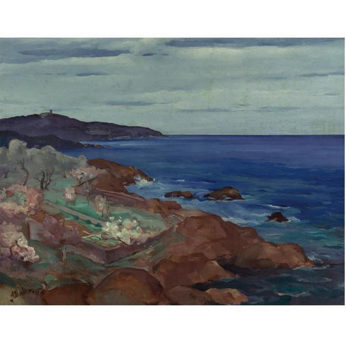 Сергей Александрович Мако (1885-1953). Французское побережье.jpg (700x700, 45Kb)