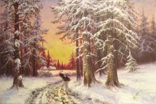 Цигус Павел Закат в зимнем лесу.jpg (500x335, 28Kb)