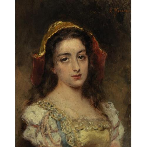 К.Е.Маковский 1839-1915 Портрет юной красавицы.jpg (500x500, 28Kb)