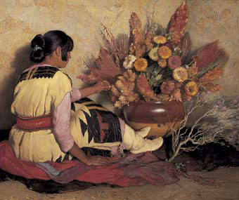 Joseph  Henri Sharp Crucita a Taos Indian Girl.jpg (340x285, 26Kb)