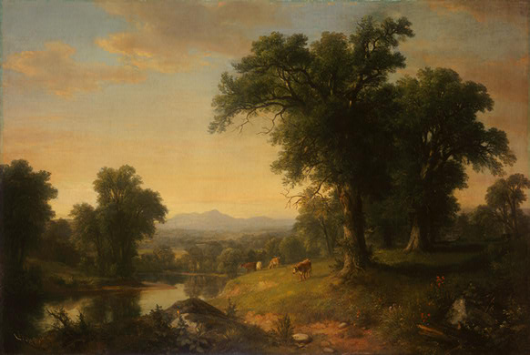 Asher Brown Durand. A Pastoral Scene, 1858 амер. (1796-1886).jpg (582x390, 53Kb)