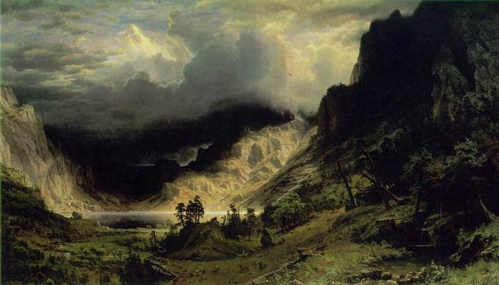 Альфред Бирштадт Шторм в Скалистых горах  амер.1866.jpg (698x399, 99Kb)