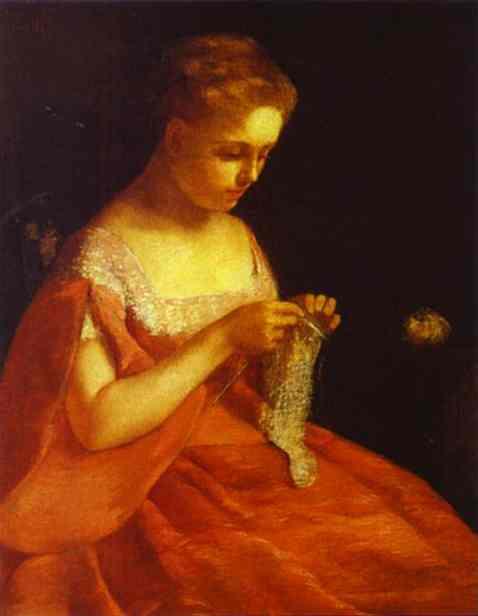кассат (1844-1926) - американская художница французского происхождения Новобрачная 1875.jpg (478x616, 13Kb)